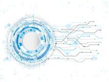 Fundo abstrato do circuito da tecnologia computador digital da Olá!-tecnologia Fotos de Stock Royalty Free