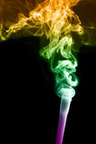 Fundo abstrato do colorfull com fumo Imagens de Stock Royalty Free
