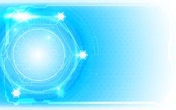 Fundo abstrato do conceito da inovação da tecnologia do teste padrão do hexágono Imagens de Stock