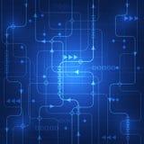 Fundo abstrato do conceito da tecnologia Cores bonitas ilustração royalty free
