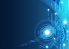 Fundo abstrato do conceito da tecnologia, ilustração do vetor Imagens de Stock