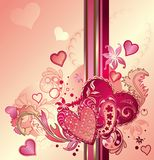 Fundo abstrato do coração dos Valentim Imagem de Stock