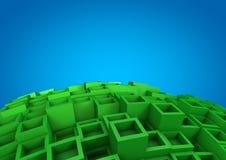 Fundo abstrato do cubo Fotos de Stock Royalty Free