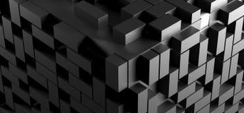 Fundo abstrato do cubo com lotes dos retângulos Fotografia de Stock