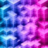 Fundo abstrato do cubo do inclinação ilustração royalty free