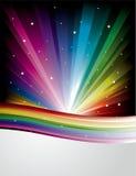 Fundo abstrato do disco do arco-íris ilustração do vetor