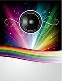 Fundo abstrato do disco do arco-íris ilustração stock