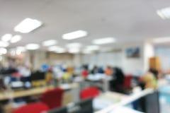 Fundo abstrato do escritório do borrão com bokeh Imagens de Stock