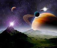 Fundo abstrato do espaço profundo. Foto de Stock Royalty Free