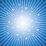 Fundo abstrato do estouro da estrela azul Fotografia de Stock