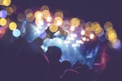 Fundo abstrato do festival de música imagens de stock