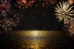 Fundo abstrato do fogo de artifício do feriado Imagens de Stock