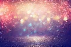 Fundo abstrato do fogo de artifício do feriado Imagens de Stock Royalty Free