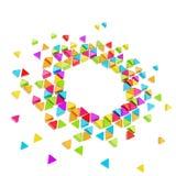 Fundo abstrato do frame do hexágono do copyspace Fotos de Stock