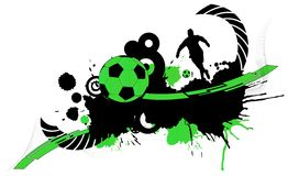 Fundo abstrato do futebol Imagens de Stock Royalty Free