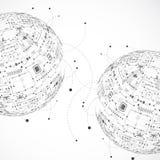 Fundo abstrato do globo da tecnologia Imagem de Stock