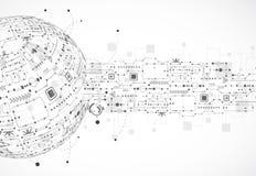 Fundo abstrato do globo da tecnologia Foto de Stock