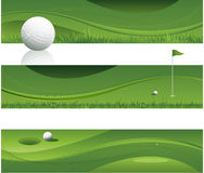 Fundo abstrato do golfe Imagens de Stock Royalty Free