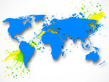 Fundo abstrato do grunge com mapa Imagens de Stock