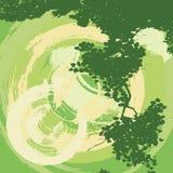 Fundo abstrato do grunge com uma árvore ilustração royalty free