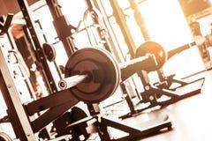 Fundo abstrato do gym da aptidão do borrão fotos de stock royalty free