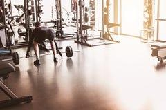 Fundo abstrato do gym da aptidão do borrão foto de stock