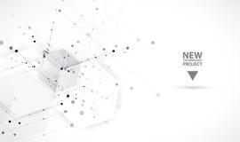 Fundo abstrato do hexágono Projeto poligonal da tecnologia ilustração stock