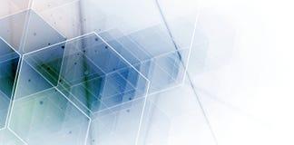 Fundo abstrato do hexágono Projeto poligonal da tecnologia Digita ilustração stock