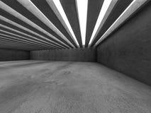 Fundo abstrato do interior da arquitetura 3d Foto de Stock Royalty Free