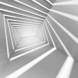 Fundo abstrato do interior do branco 3d Foto de Stock