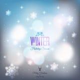 Fundo abstrato do inverno Foto de Stock Royalty Free