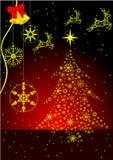 Fundo abstrato do inverno com Natal Imagens de Stock Royalty Free
