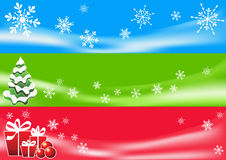 Fundo abstrato do inverno. Três bandeiras. Fotografia de Stock Royalty Free