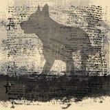 Fundo abstrato do lobo ilustração royalty free