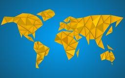Fundo abstrato do mapa do mundo no estilo poligonal Fotografia de Stock
