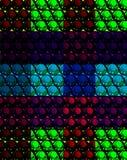 Fundo abstrato do mosaico com as esferas diferentes da cor ilustração do vetor