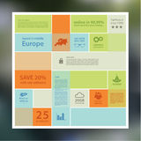 Fundo abstrato do mosaico do vetor. Molde de Infographic com pla Foto de Stock Royalty Free