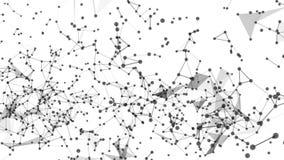 Fundo abstrato do movimento com pontos e linhas laço