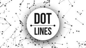 Fundo abstrato do movimento com pontos e linhas laço ilustração stock