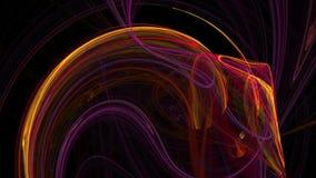 Fundo abstrato do movimento do laço das ondas coloridas ilustração stock