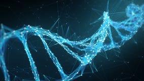 Fundo abstrato do movimento - laço da molécula 4k do ADN do plexo de Digitas ilustração do vetor
