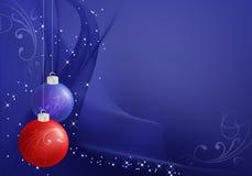 Fundo abstrato do Natal com flocos da neve Imagens de Stock Royalty Free
