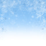 Fundo abstrato do Natal com flocos de neve Imagem de Stock Royalty Free