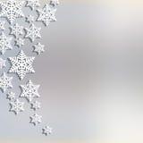 Fundo abstrato do Natal com flocos de neve Imagens de Stock