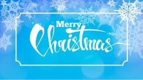Fundo abstrato do Natal com flocos de neve e lugar para o texto Ilustração do vetor ilustração royalty free