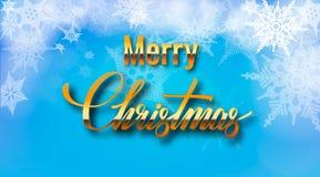 Fundo abstrato do Natal com flocos de neve e lugar para o texto Ilustração do vetor ilustração stock
