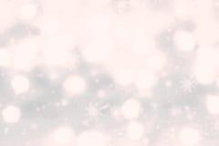 Fundo abstrato do Natal com ligh festivo mágico de incandescência Imagens de Stock