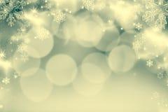 fundo abstrato do Natal com luzes do feriado Fotos de Stock Royalty Free