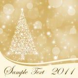 Fundo abstrato do Natal do ouro com espaço da cópia Fotos de Stock Royalty Free