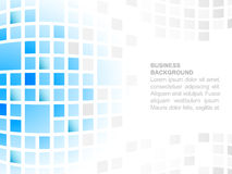 Fundo abstrato do negócio com lugar para seu teste padrão de mosaico quadrado satisfeito, azul Imagens de Stock